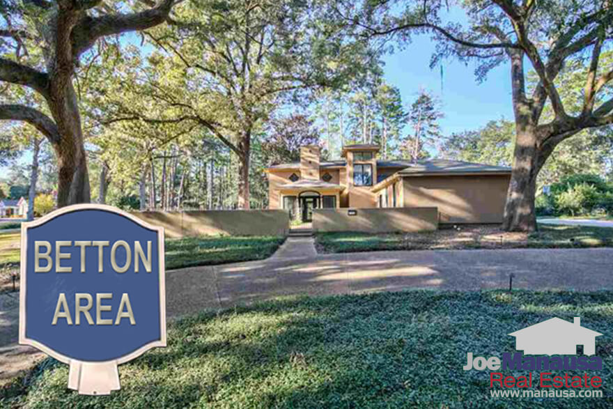 Betton Estates, Betton Woods, Betton Hill, Betton Hills, Betton Oaks and Betton Place are among the highest demand properties in Tallahassee