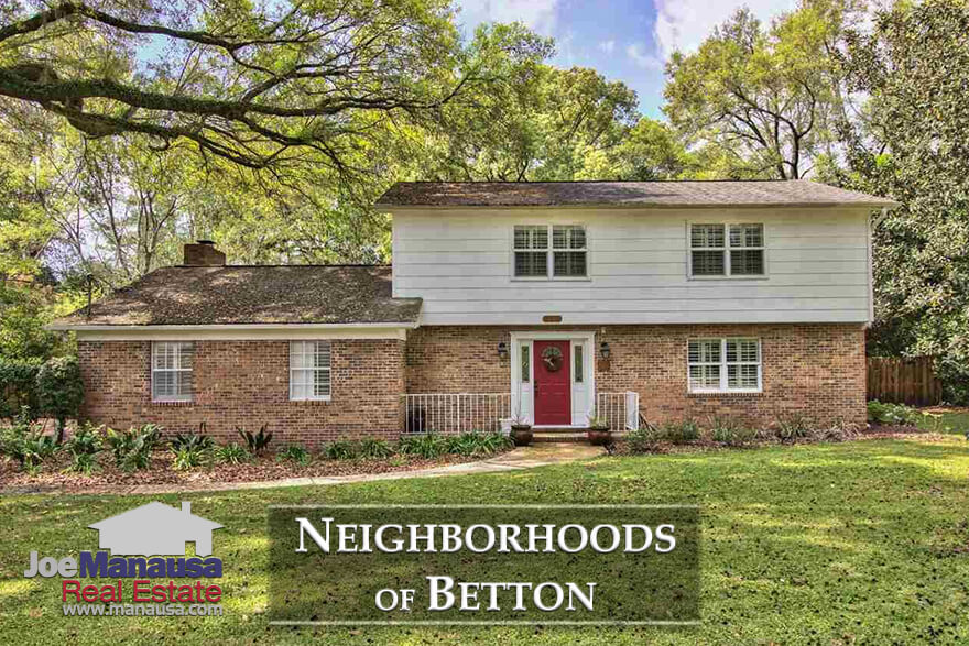 Analysis on average home prices, home values, and home size trends in Betton neighborhoods, and lists 1,000 previously closed Betton home sales