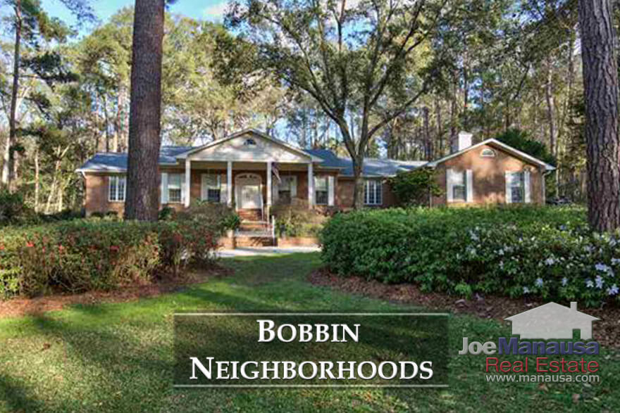 Bobbin Brook, Bobbin Mill Woods, and Bobbin Trace are three adjacent high-end neighborhoods located in NE Tallahassee