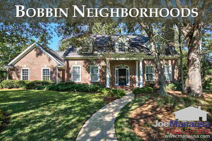 Bobbin Mill Woods, Bobbin Trace, and Bobbin Brook are three popular luxury home neighborhoods located in Northeast Tallahassee
