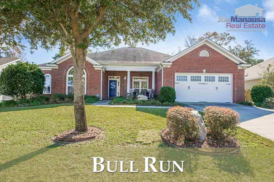 Bull Run is a popular Northeast Tallahassee neighborhood that features homes all built from 2005 or more recently