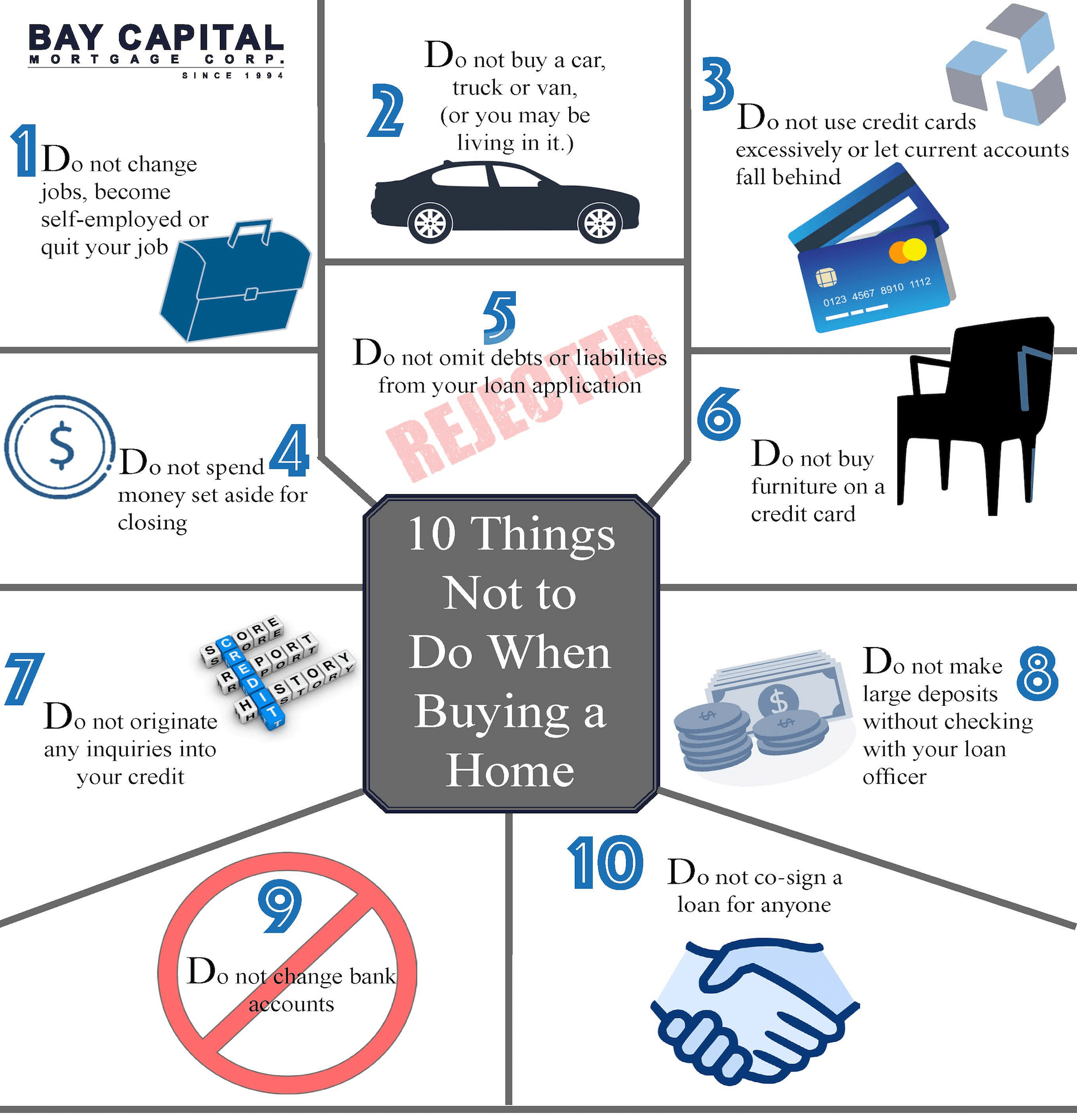 Ten Things To NOT DO When Buying A Home