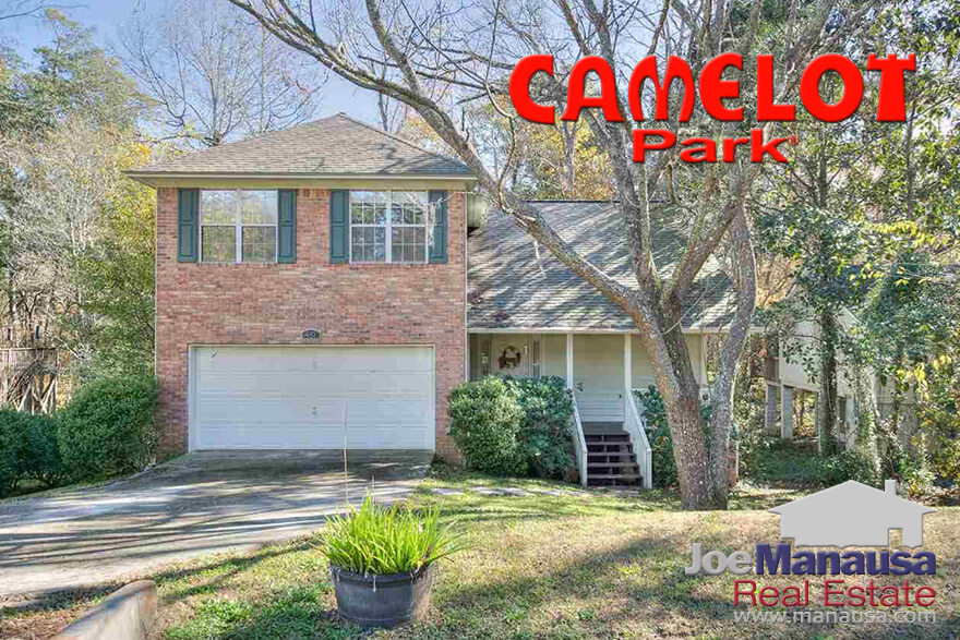 Camelot Park is a highly desirable NE Tallahassee neighborhood that offers three and four bedroom homes on quarter acre (plus) sized lots