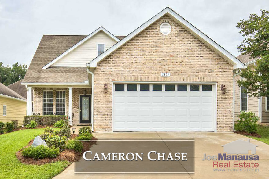 Cameron Chase sits at the southern edge of Killearn Estates in the 32309 zip code with about 130 three and four bedroom homes with values exactly where the market most needs them.