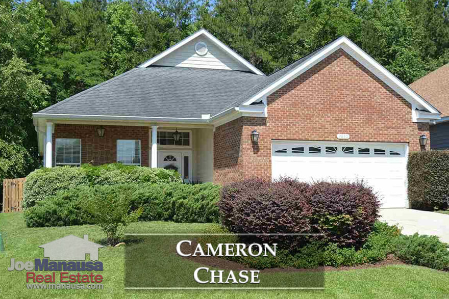 Cameron Chase is a small but popular neighborhood that offers fewer than one home listing for sale each month, so buyers need to be ready