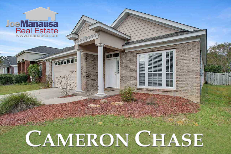 Cameron Chase sits at the southern edge of Killearn Estates in the 32309 zip code with about 130 three and four bedroom homes with values exactly where the market most needs them