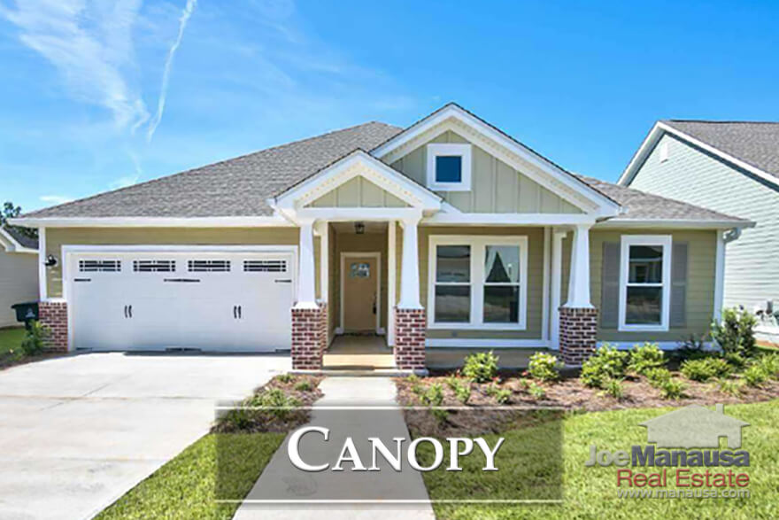Canopy is a brand new master planned community in Northeast Tallahassee, offering 3 and 4 bedroom new construction homes priced below $400K