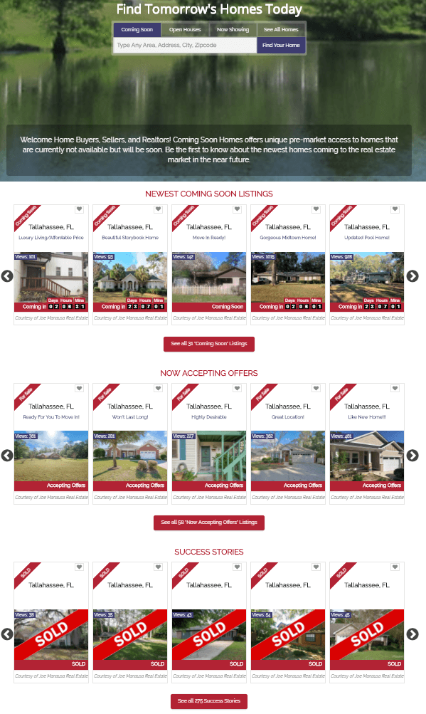 These are new homes for sale that will be hitting the market shortly, where we have not yet gathered all of the information and pictures to properly market the properties