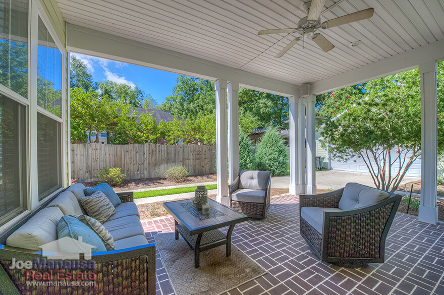 Enjoy a cozy covered patio in your Midtown Tallahassee home