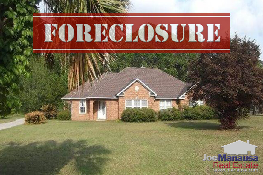 Historically, foreclosures in Tallahassee have represented a very small percentage of the homes for sale, but the crash of the market changed that significantly