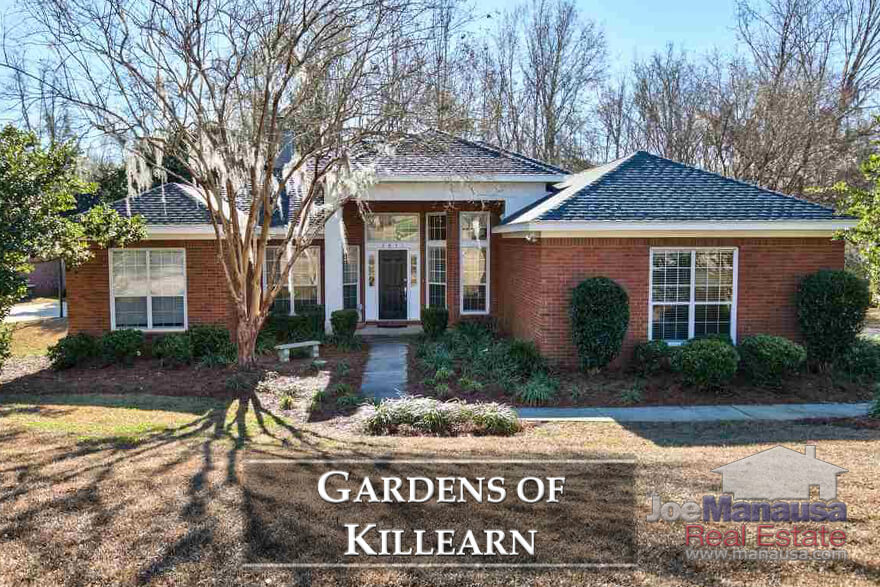 The Gardens of Killearn offers 3 and 4 bedroom homes in the 15 to 30 year old range, and current prices make these some of the highest demand homes in Tallahassee.