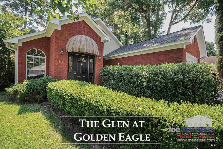 The Glen at Golden Eagle in NE Tallahassee features 3 and 4 bedroom garden homes that have been very popular for the past 20 years.