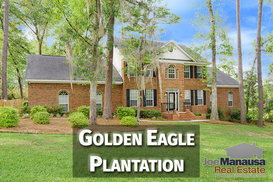 Golden Eagle Plantation is the centerpiece of Killearn Lakes Plantation and offers luxury homes in a gated community built around the world-class Tom Fazio designed Golden Eagle golf course.  Residents of Golden Eagle enjoy numerous benefits including access to A-rated public schools, walking trails, fishing and lakes, and so much more.
