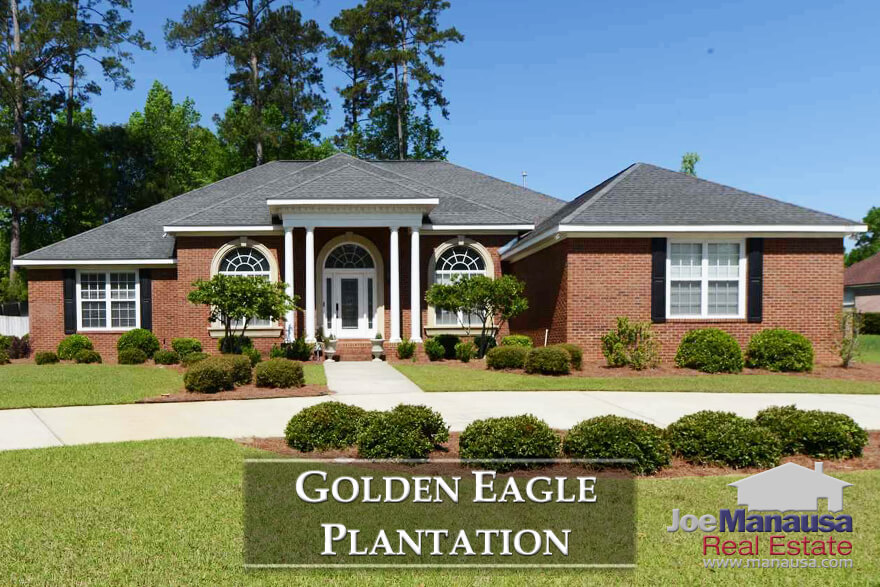 Golden Eagle Plantation is the premier golf course community in Tallahassee, featuring 800 large homes surrounding a Tom Fazio masterpiece golf course