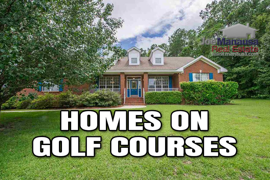 Homes on golf courses are a popular niche in the Tallahassee real estate market