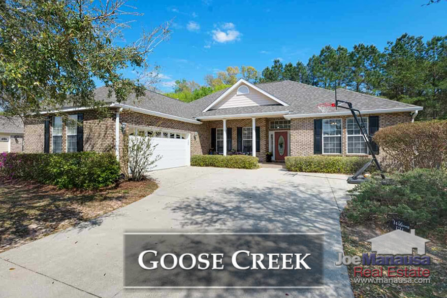 "Goose Creek Meadows and Goose Creek Fields offer ""like new"" three and four bedroom homes that were built as early as 2002, making them a value choice for people seeking new homes"