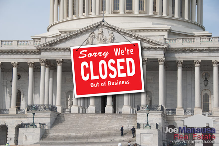 The federal government shutdown has exceeded three weeks, set a new duration record, and is threatening several aspects of the Tallahassee real estate market