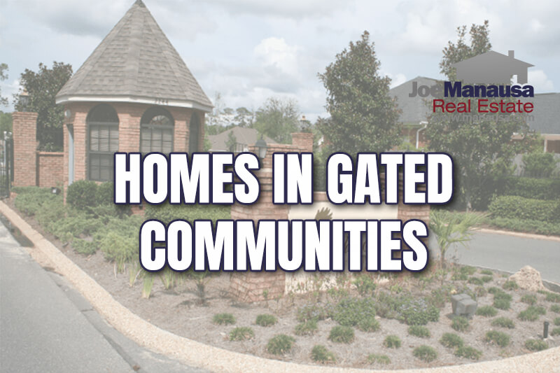 the number of listings for sale in gated communities is scant