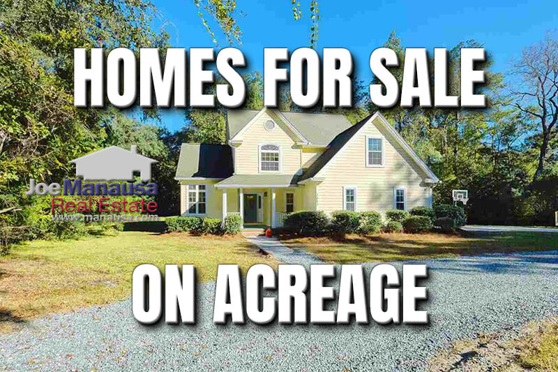 Are you looking to buy a home in Tallahassee that sits on an acre or more? If so, you'll be happy to know that we've gathered them all right here