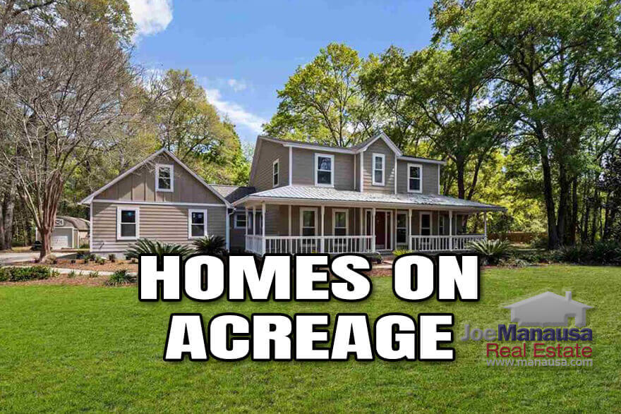 If you are seeking privacy as a benefit of owning your next home, then consider a home that sits on an acre or more of land