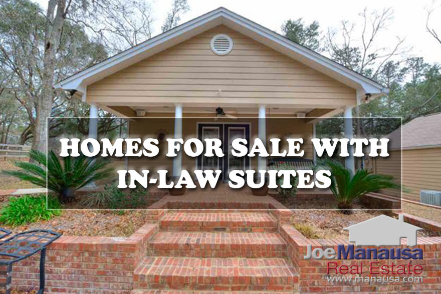Current list of homes for sale with mother-in-law suites