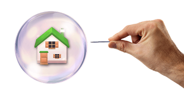 A housing bubble is formed when the supply of homes for sale continues to rise while the demand for these homes is declining