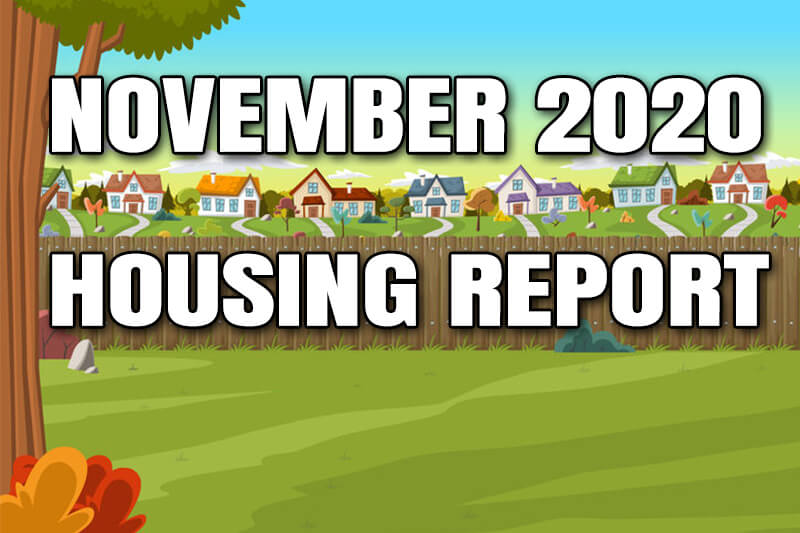 October is over, we're through ten months of this crazy 2020 year, and it's time for a new housing market update