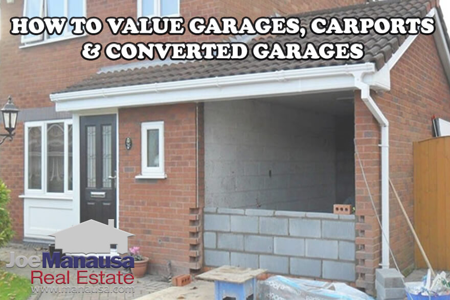 A garage (or carport) in a home sale adds value, but