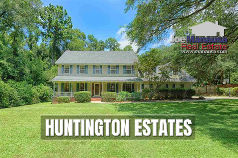 Huntington Estates is an established Northwest Tallahassee neighborhood of fewer than 90 single-family homes that range from 2,100 - 2,800 square feet