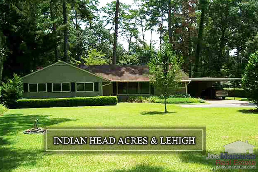 Indian Head Acres & Lehigh are adjacent neighborhoods located in downtown Tallahassee, across from the Governor's Square Mall and within walking distance to shopping, dining, entertainment, Cascades Park and Myers Park as well.