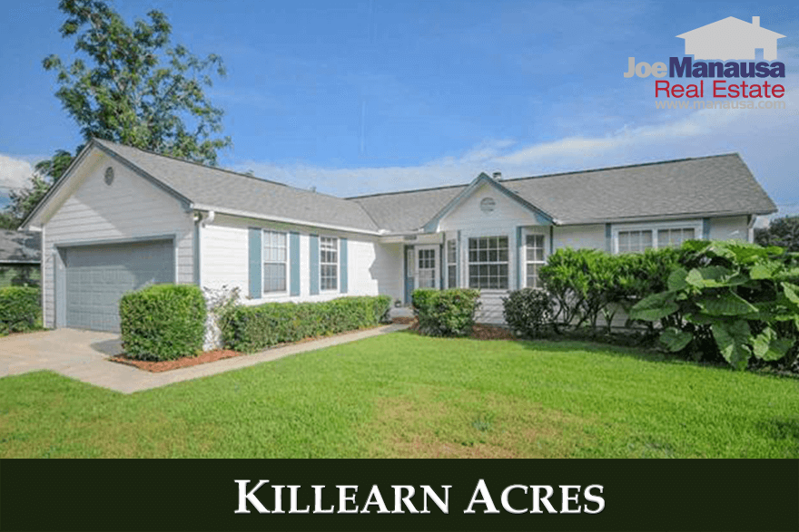 Listings and home sales report for Killearn Acres