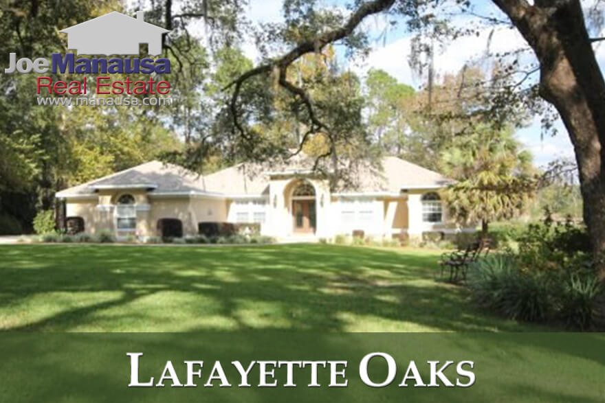 Lafayette Oaks is Tallahassee's first gated community, and it offers spacious homes on large lots that were mostly built forty to fifty years ago.