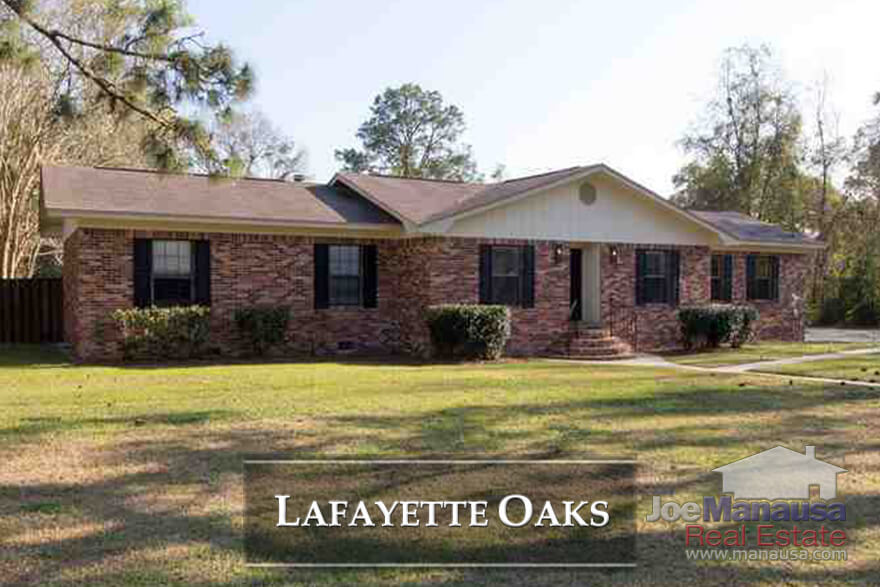 Lafayette Oaks is Tallahassee's first gated community, and it offers spacious homes on large lots that were mostly built forty to fifty years ago