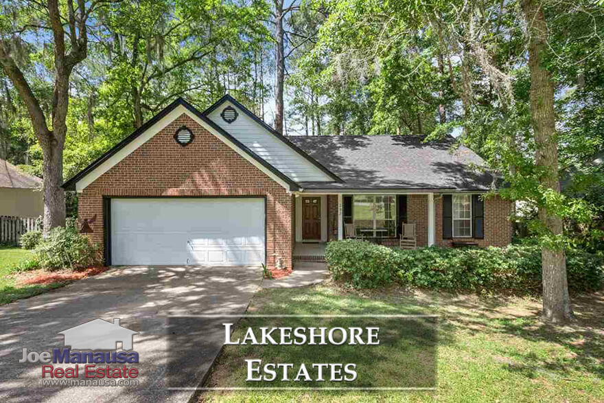 Lakeshore Estates is a NW Tallahassee neighborhood featuring three and four bedroom homes built from the late 1960s through the early 2000s