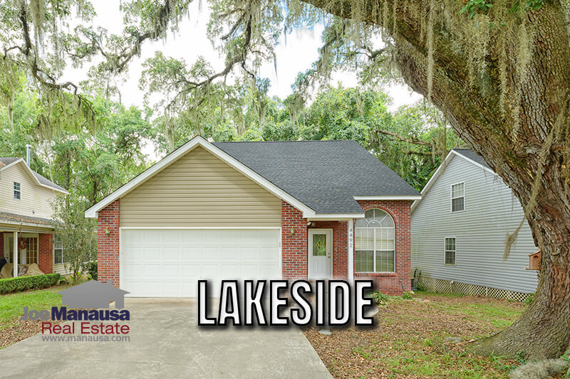 Lakeside in Northwest Tallahassee is a twenty-five-year-old neighborhood with just over 140 three and four-bedroom single-family detached homes