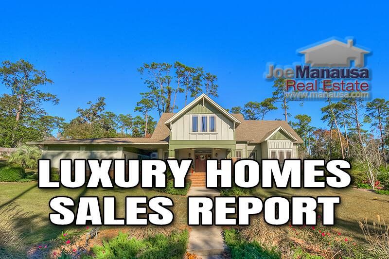Full report on luxury home sales in Tallahassee through December 2020