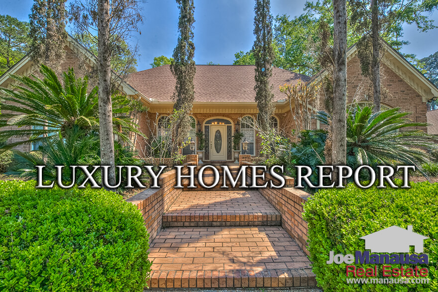You probably have heard about the strong sellers' market for Tallahassee real estate, but today's report reveals that the opposite is true for luxury homes