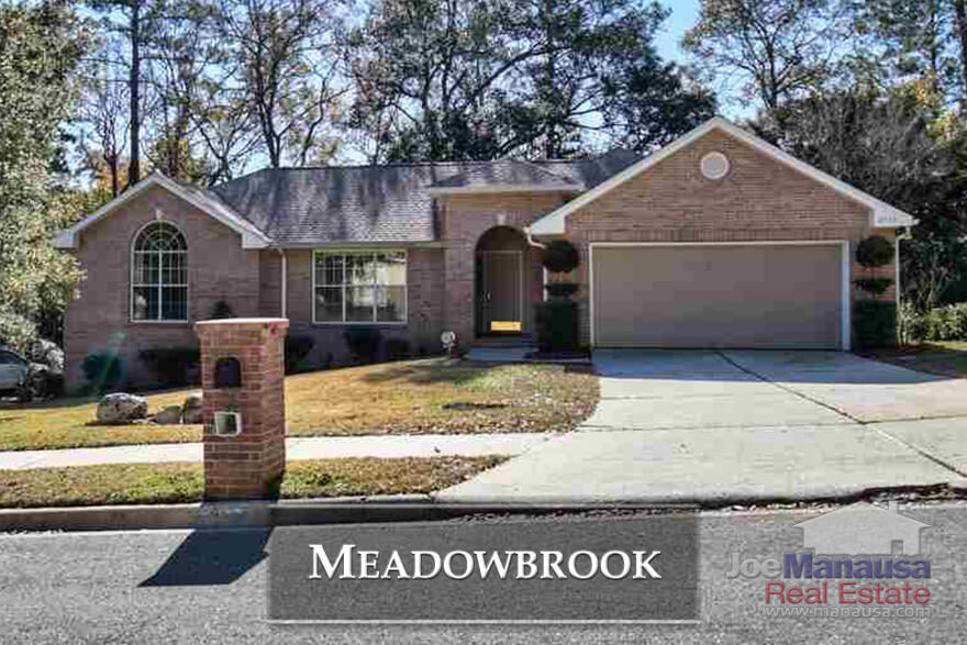 Meadowbrook is a very popular neighborhood located in NE Tallahassee and contains both 3 and 4 bedroom single family detached homes.