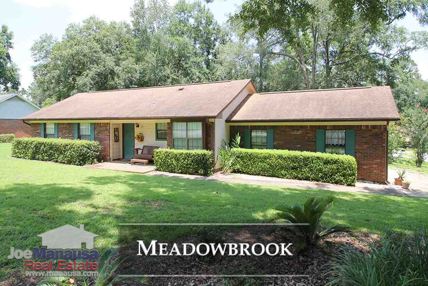 Meadowbrook is a very popular neighborhood located in NE Tallahassee and contains both 3 and 4 bedroom single family detached homes