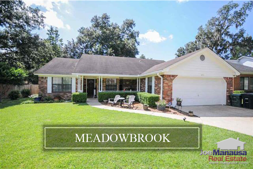 Meadowbrook is a popular NE Tallahassee neighborhood located near the intersection of Capital Circle Northeast and Mahan Drive.