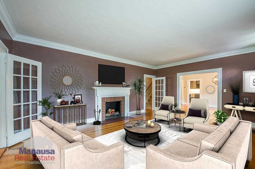Warm living room in Midtown Tallahasssee