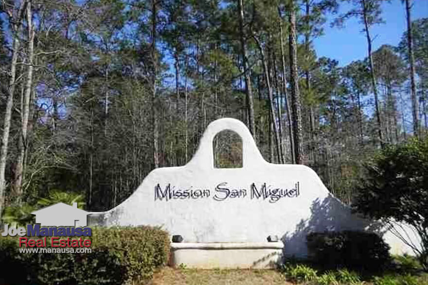 Mission San Miguel is a popular east-side of Tallahassee neighborhood filled with more than 60 new and newer three and four-bedroom homes on an acre