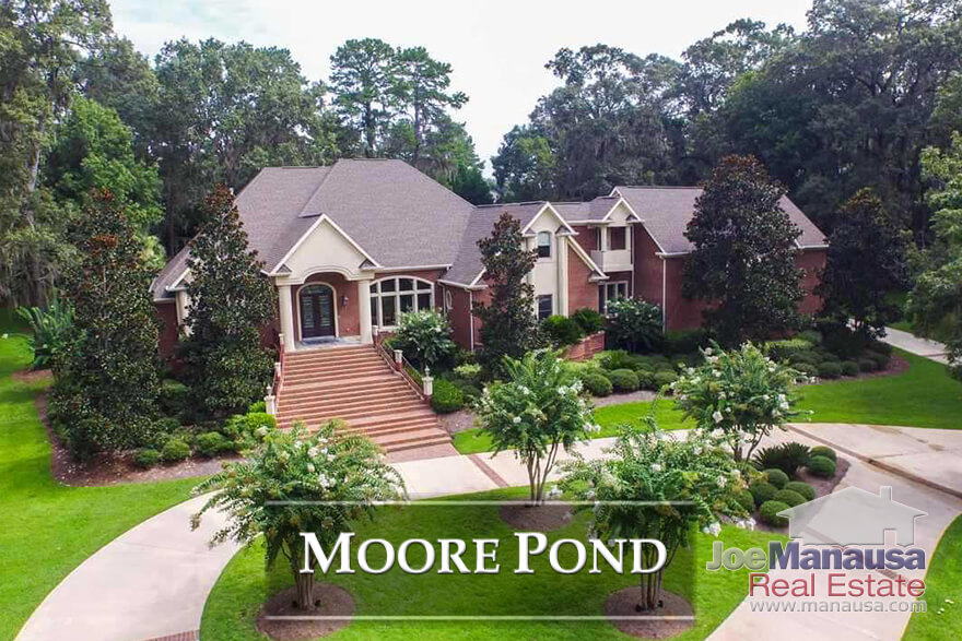 Moore Pond is a high end gated community in Northeast Tallahassee, one that enjoys its share of the high end market.