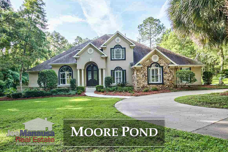 Moore Pond is a luxury home neighborhood in Northeast Tallahassee, a rare gated community featuring homes that often exceed $1M
