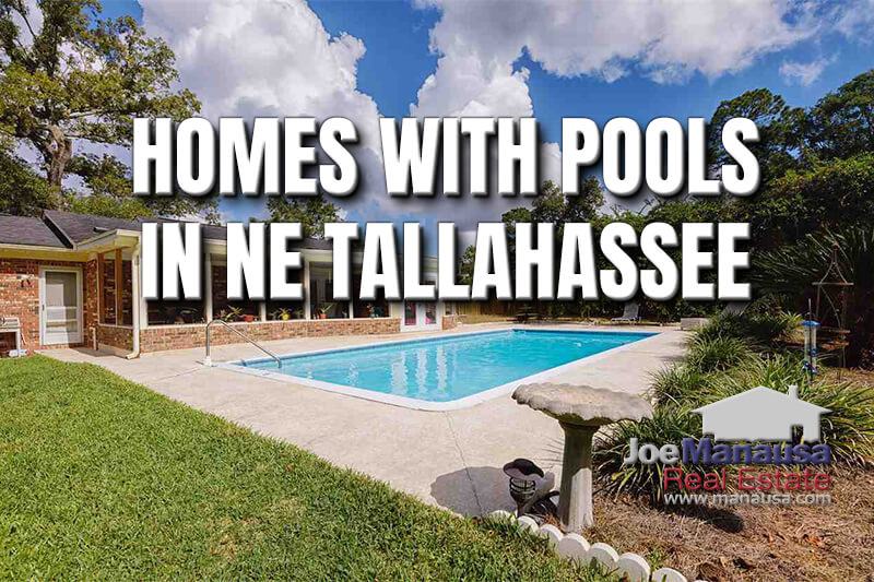 77 Sparkling NE Tallahassee Homes For Sale With Swimming Pools