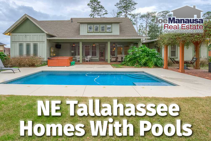 If you want to buy a home with a pool, and you want the home located in Northeast Tallahassee, then everything you need is right here