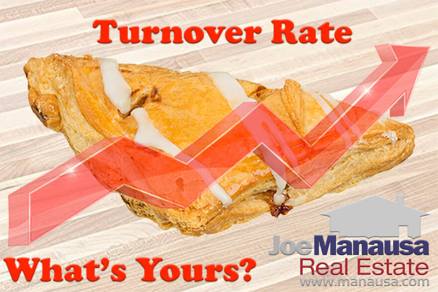 Turnover rates for the most active neighborhoods in Tallahassee
