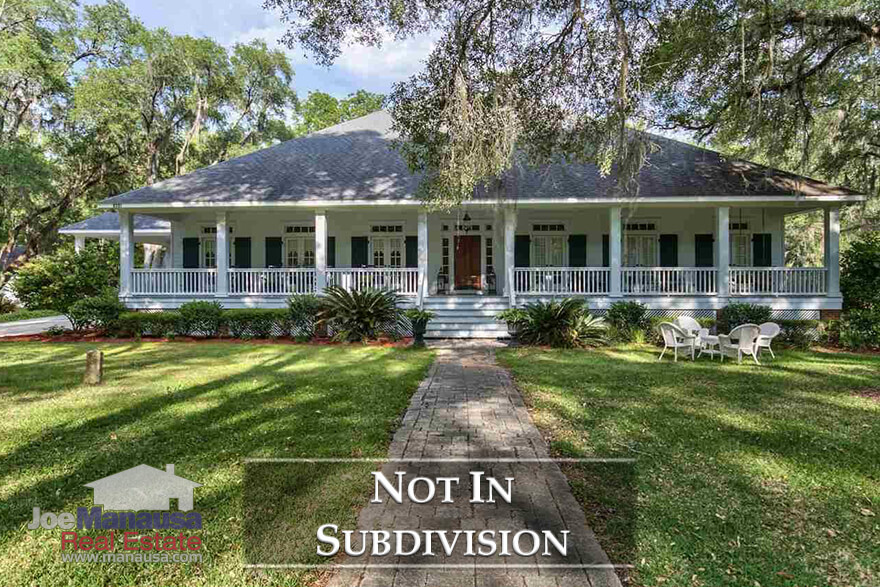 Homes for sale in Tallahassee that are not located in a formal subdivision