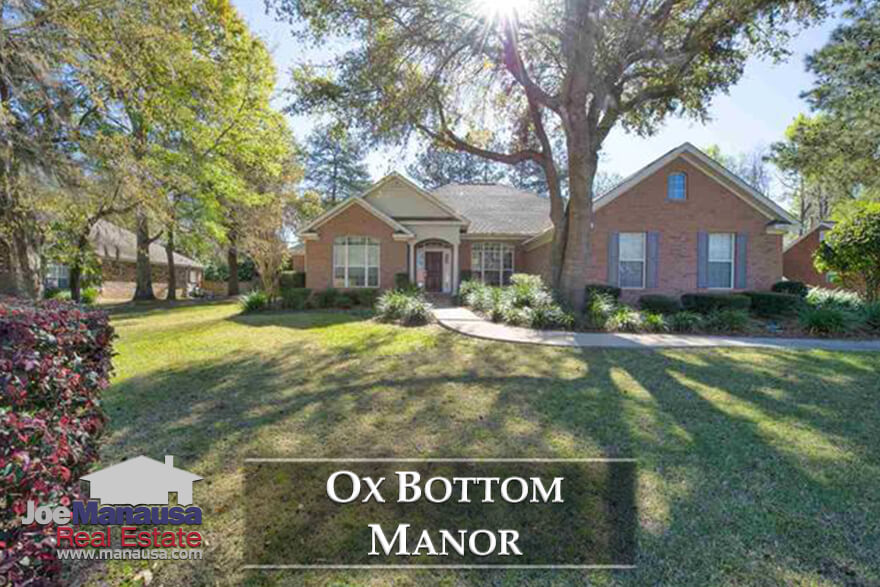 Ox Bottom Manor is a highly prized neighborhood located in NE Tallahassee's 32312 zip code