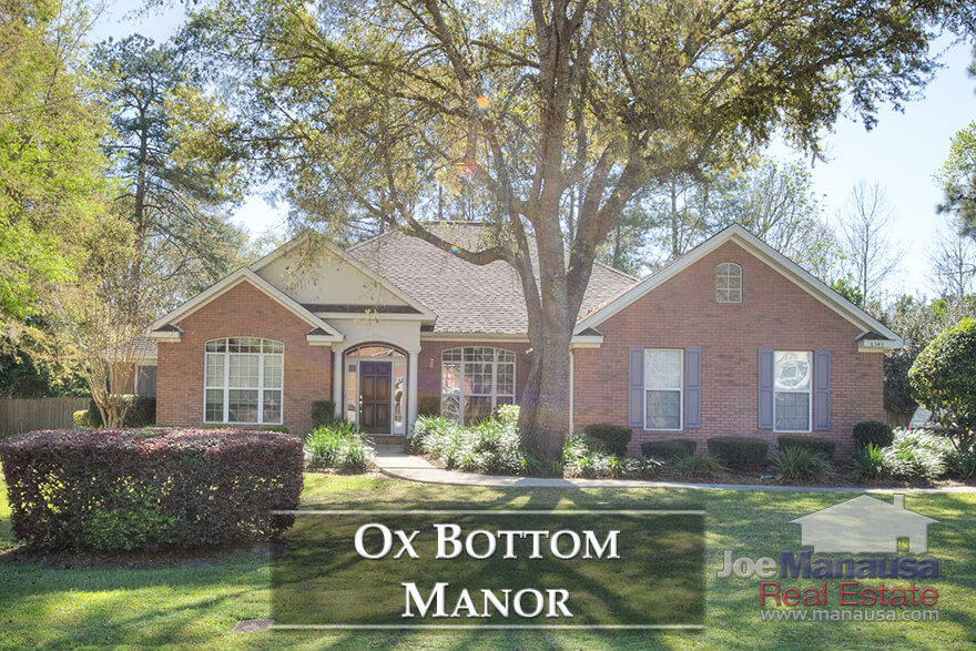 Containing more than 700 homes built in the past 30 years, Ox Bottom Manor is a relatively large and wildly popular place to live in Tallahassee's hot 32312 zip code